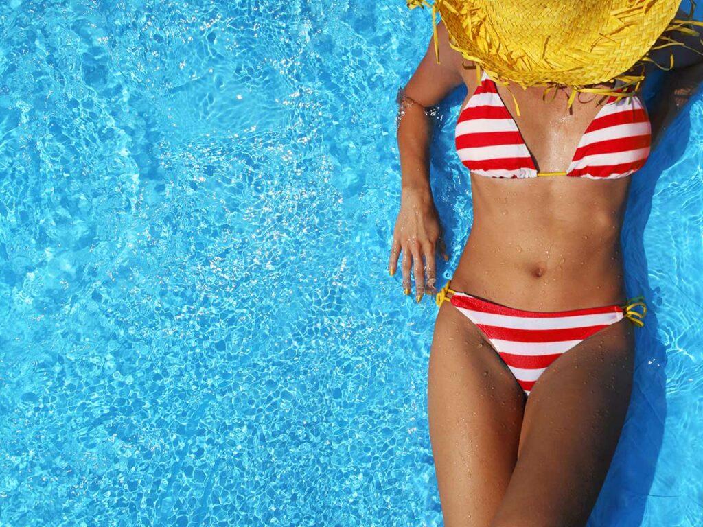 Incision bikini